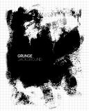 Black grunge textured background painted by brush Stock Photo