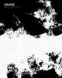 Black grunge textured background painted by brush Royalty Free Stock Photography