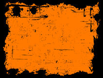 Black Grunged Border Stock Image