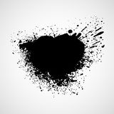 Black grungy design elements. Vector illustration Stock Photography
