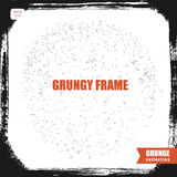 Black grungy frame with rounded corners Stock Photography