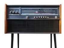 Black grungy retro radio isolated on white Stock Photo