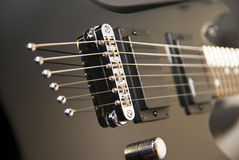 Black guitar Stock Image