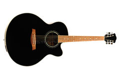 Black guitar Stock Photo