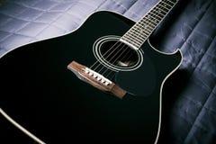 Black guitar Stock Photos