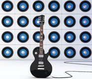 Black guitar Stock Photos