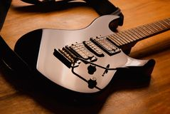 Black guitar Stock Photography