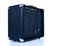 Black guitar amplifier Stock Photography