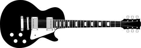 Black Guitar Background Royalty Free Stock Photos