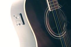 Black guitar deck Royalty Free Stock Images