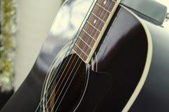 Black guitar deck Stock Image
