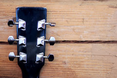 Black guitar neck Royalty Free Stock Photography