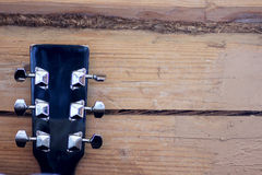 Black guitar neck Stock Photos