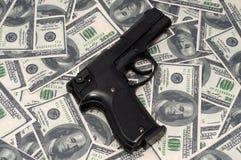 Black gun stock images