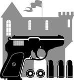 Black gun. Stock Images