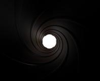 Black Gun Barrel Stock Photography