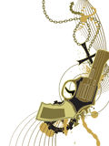 Black Gun, Colored Royalty Free Stock Image