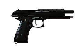 Black gun. Isolated on white background Stock Photography