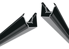 Black guttering Stock Photography