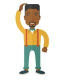 Black guy confused Royalty Free Stock Images