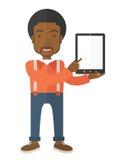 Black guy holding a digital tablet Stock Photo