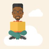 Black guy reading a book Royalty Free Stock Photography