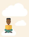 Black guy reading a book Stock Photography