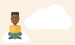 Black guy reading a book Royalty Free Stock Images