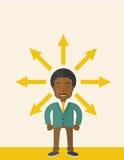 Black guy with too many arrow Stock Image