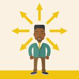 Black guy with too many arrow Stock Photography