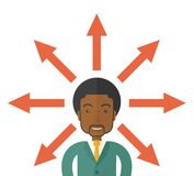 Black guy with too many arrows Stock Image