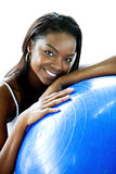 Black gym woman portrait Stock Image