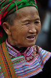 Black H'mong minority woman in the Bac Ha market, Vietnam Stock Image