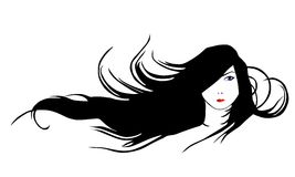 Black Hair. Stock Image