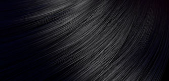 Black Hair Blowing Closeup Royalty Free Stock Photos