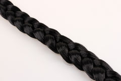 Black hair braid Stock Photos