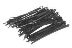 Black Hair Clips Macro Isolated Stock Images