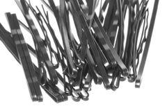 Black Hair Clips Macro Isolated Royalty Free Stock Image