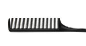 Black Hair Comb. Isolated on White Royalty Free Stock Image