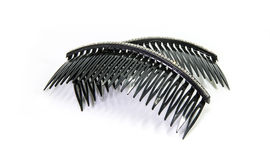 Black hair comb decorate diamond on white background Royalty Free Stock Photography