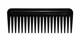 Black hair comb Stock Photo