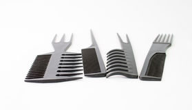 Black Hair Combs Stock Photography