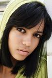 Black hair and eyes Stock Photos