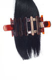 Black hair and hairgrip Stock Image
