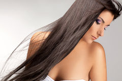 Black Hair. High quality image. Royalty Free Stock Photos