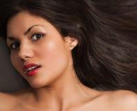 Black hair woman close-up Stock Photos