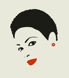 Black hair woman. Royalty Free Stock Photos