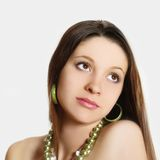 Black hair young woman portrait Royalty Free Stock Images