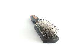 Black hairbrush 3 Stock Images