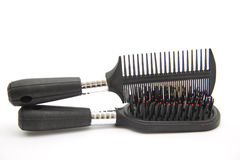Black hairbrush with neck Royalty Free Stock Images